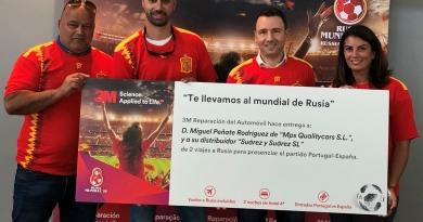 Los ganadores del concurso de 3M viajan ya a Rusia para animar a la selección en su debut de Mundial