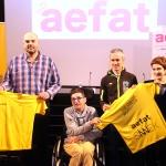 Seis niños y jóvenes con ataxia telangiectasia participarán en el reto solidario de SINNEK en la maratón de Vitoria-Gasteiz