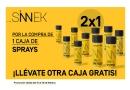 SINNEK lanza la promoción  2X1 en su gama de Sprays