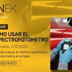 Aprende a sacar el máximo partido al uso del espectrofotómetro con el próximo webinar de SINNEK