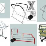 ZAPHIRO amplía su gama de equipamiento para el taller con nuevas gamas de soportes para piezas y carros de enmascarado